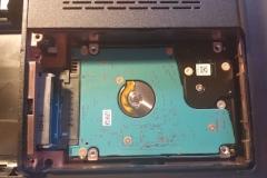 Festplatte HDD angeschlossen