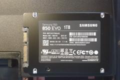 SSD Festplatte ausgepackt